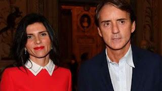 Silvia Fortini with her husband Roberto Mancini