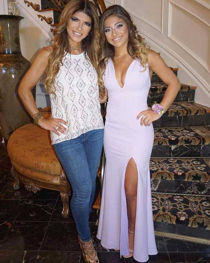 Teresa Giudice is all smiles with daughter Gia before her high school prom