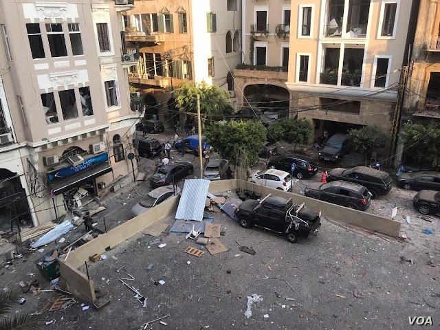 TERROR: Huge Blast Rocks Beirut - Over 100 killed and 4000 injured including Britons.