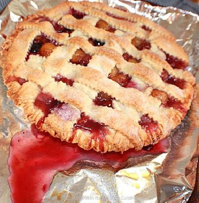 Butter Crust Deep Dish Peach or Cherry Berry Cobbler
