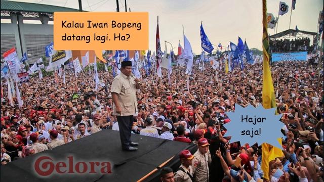 Prabowo: Kalau Iwan Bopeng Datang Nakuti-nakuti di TPS Gimana? Massa Jawab
