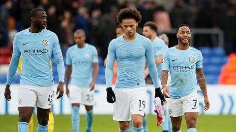 Man City đã chính thức rơi xuống vị trí thứ 4 trên bảng xếp hạng sau trận thua