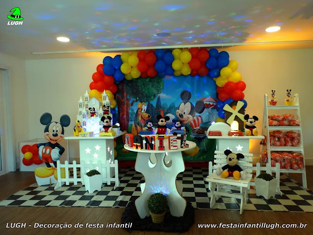 Decoração Mickey provençal para festa de aniversário infantil de meninos - Barra RJ