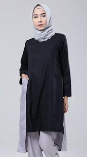 Model baju muslim tunik sederhana