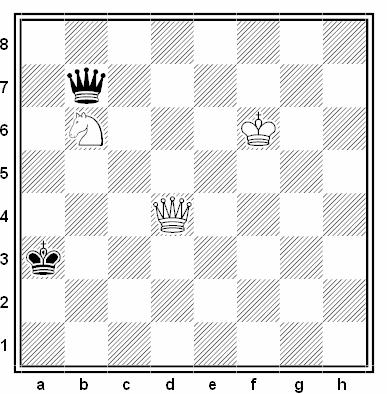 Estudio artístico de Jesús Díez del Corral (3º Premio, Schach Echo #078, 1955)