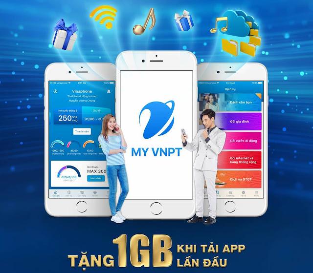 My VNPT, nhận 1gb, data miễn phí, cách nhận data miễn phí, Vinaphone, 3g/4g miễn phí
