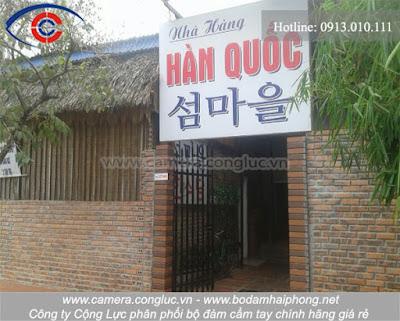 Thi công lắp đặt máy chấm công tại Cái Dăm, Quảng Ninh - Nhà hàng Hàn Quốc.