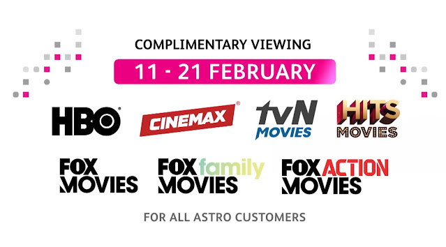 Astro Belanja Siaran Movies Untuk Pelanggan Astro Secara Percuma Bermula 11 Februari