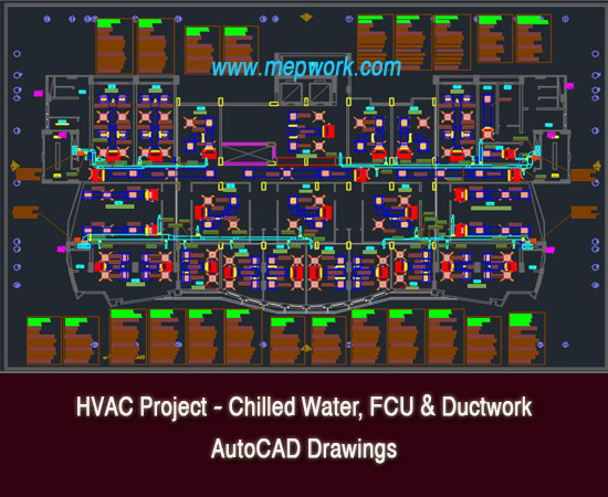 HVAC Project - Chilled Water  FCU AutoCAD Drawings