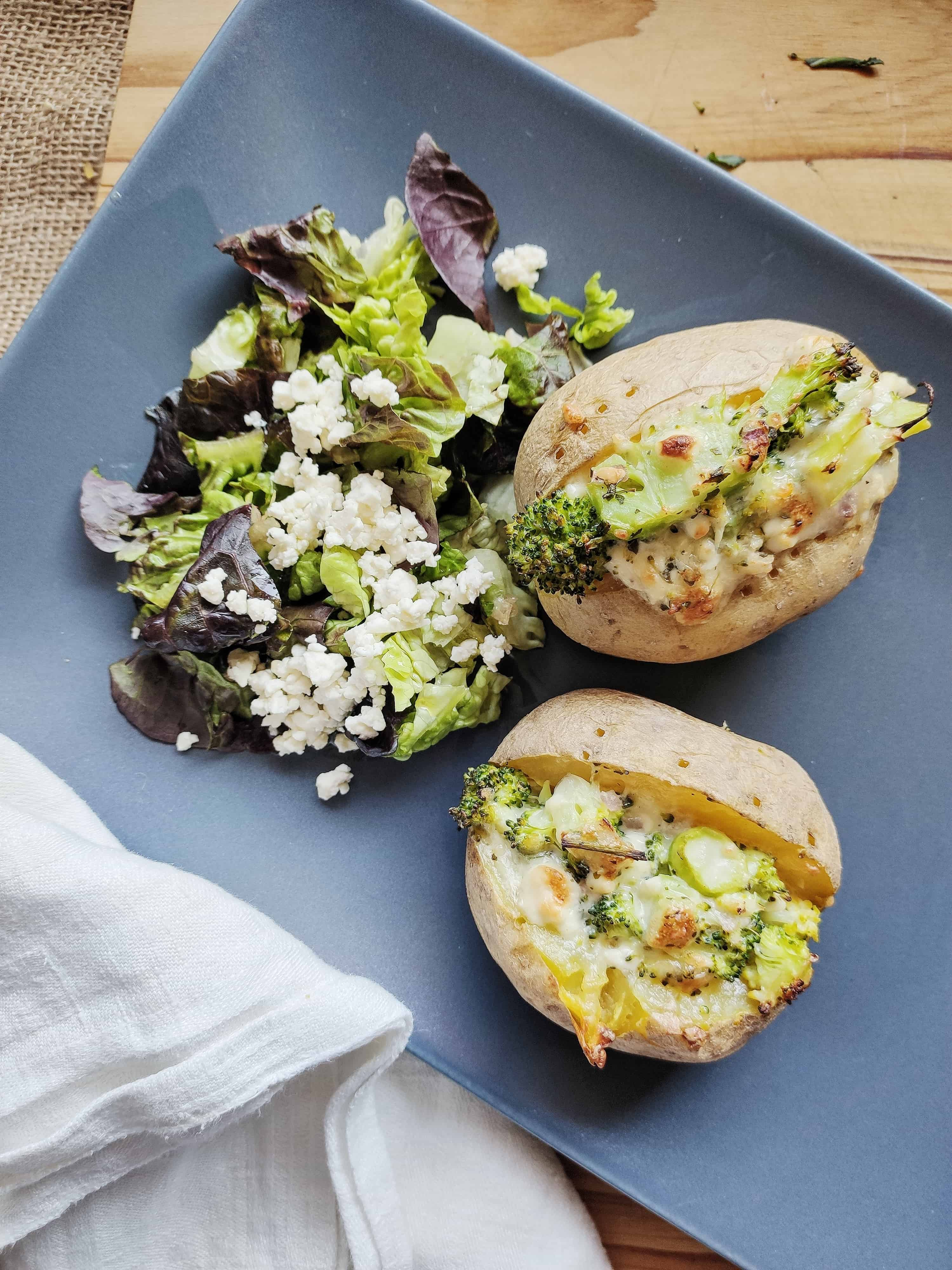 Meal Prep on Ice: Gefüllte Ofenkartoffeln vorkochen
