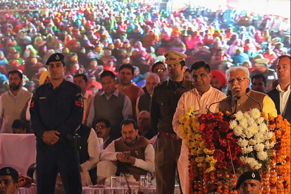 25 दिसंबर को हरियाणा के सभी विधानसभा क्षेत्रों के लिए 4000 घोषणाएं करेंगे खट्टर