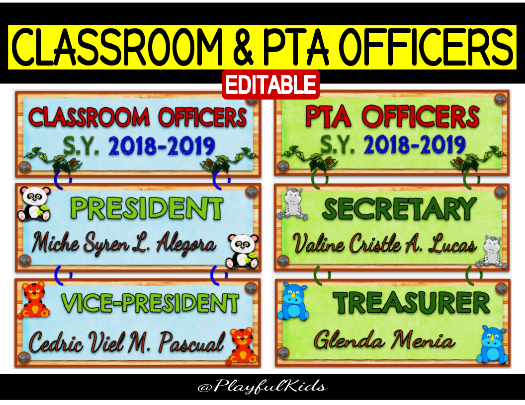 Classroom Officers Design ~ Support
