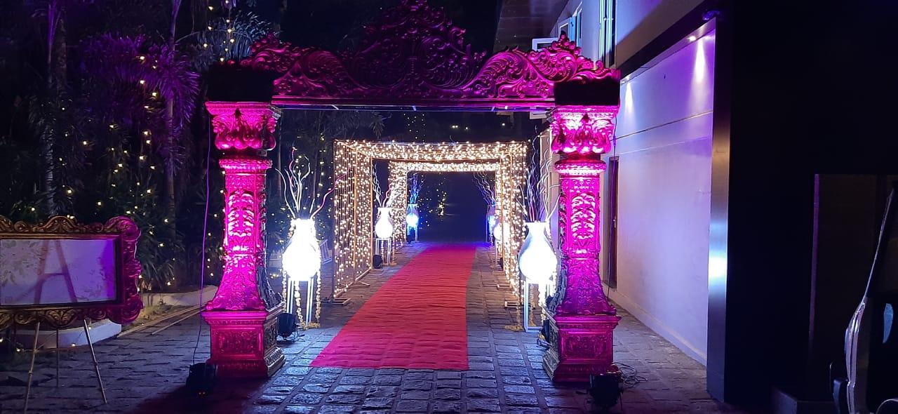 entrance decoration wedding night theme