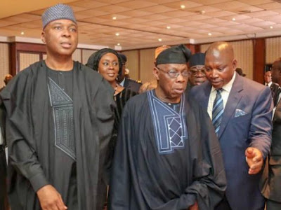 Saraki, Obasanjo joins World Leaders to bid Kofi Anna farewell