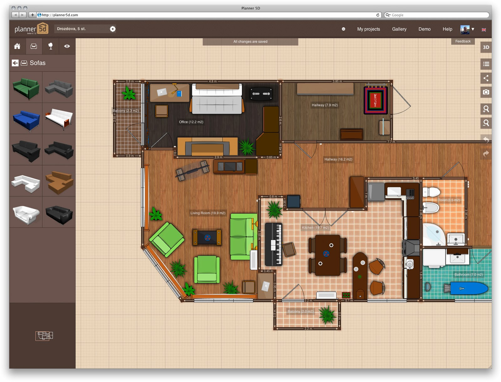 Aplicativos para fazer plantas de casas trendy planta for Planner casa gratis