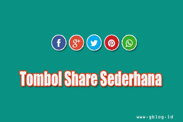 Tombol Share keren di sertai tombol whatsapp