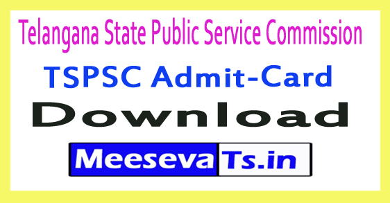Telangana State Public Service Commission TSPSC Health Supervisor Admit Card 2018