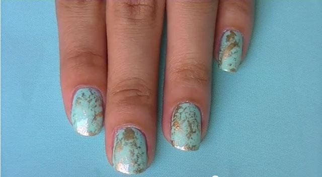 nail art stone effect 01