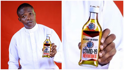 Nigerian Pastor Unveils COVID-19 Prevention Oil, And It Goes For $100