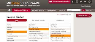 Situs belajar coding online MIT Open Courseware