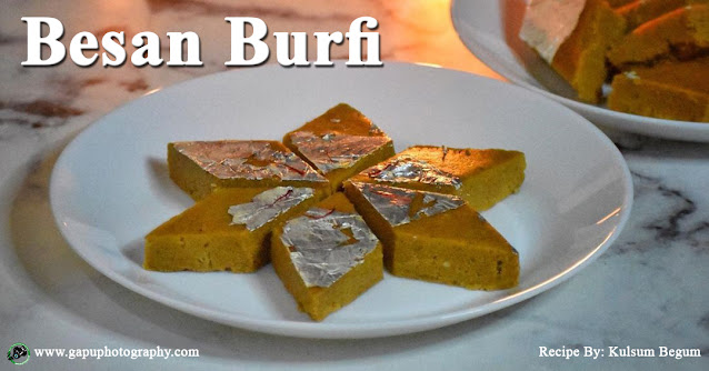 Recipe of Besan Katli of Besan Burfi for Diwali