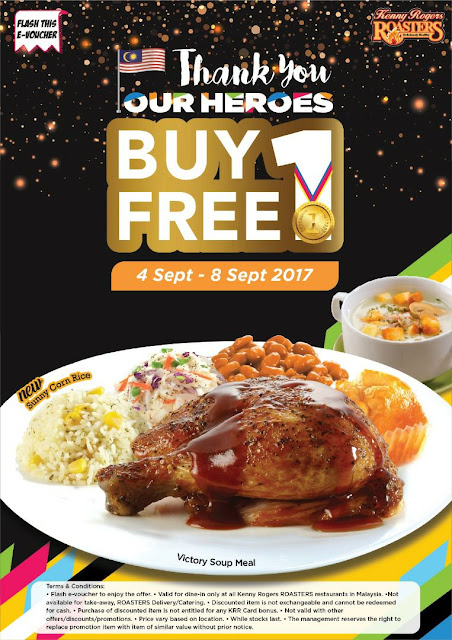 Kenny Rogers ROASTERS Malaysia Buy 1 Free 1 Victory Soup Meal Promo