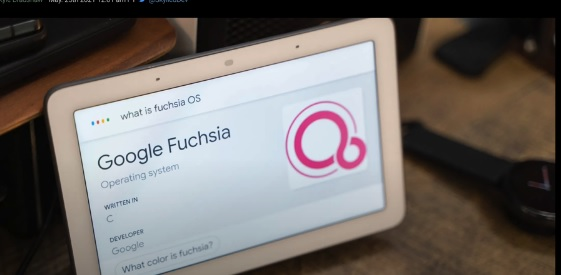 Fuchsia OS Sistema Operativo en Google Nest Hub