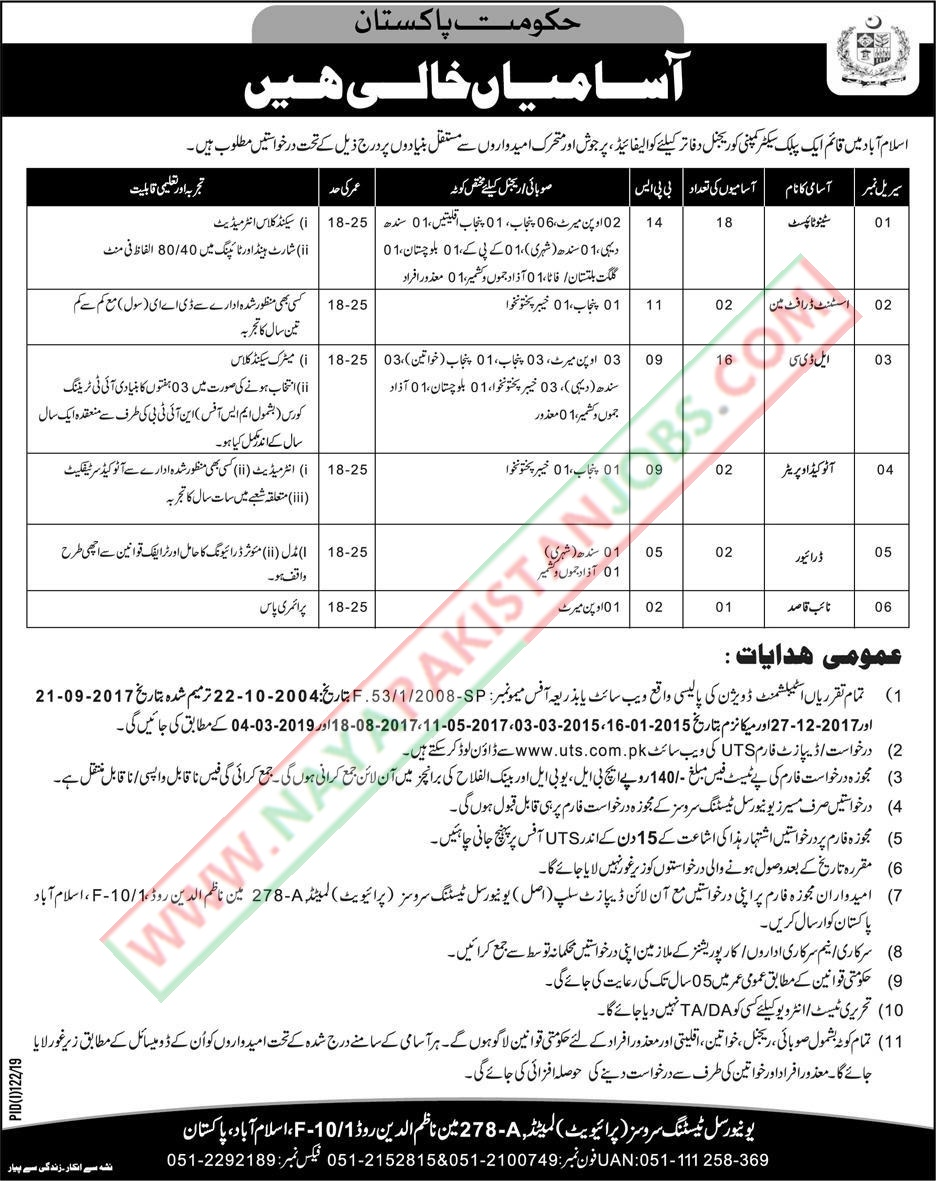 govt jobs, islamabad govt jobs ,Govt Islamabad Jobs 2019 - Public Sector Organization
