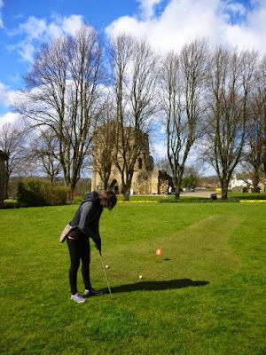 Putting course at Knaresborough's Castle Yard