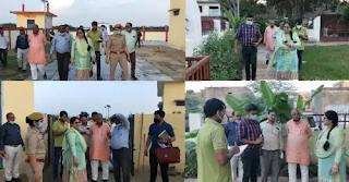 जालौन : जिलाधिकारी प्रियंका निरंजन ने गौ आश्रय और मोक्षधाम पार्क का निरीक्षण किया