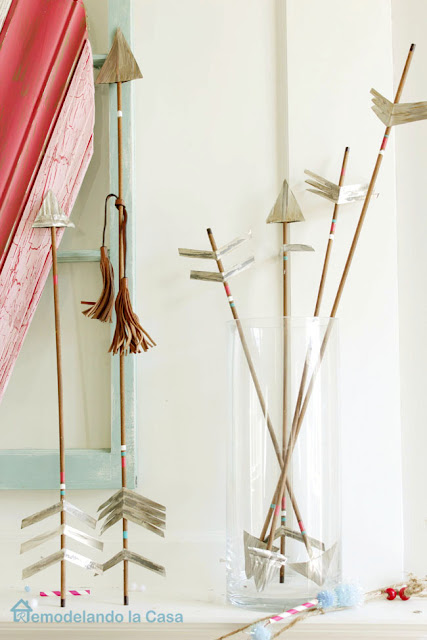 How to make rustic arrows out of wooden dowels and metal