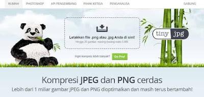 kompres foto jpeg ke jpg menggunakan tinypng