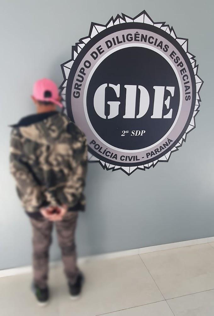 Laranjeiras do Sul: Polícia Civil (GDE) prende indivíduo foragido da Justiça