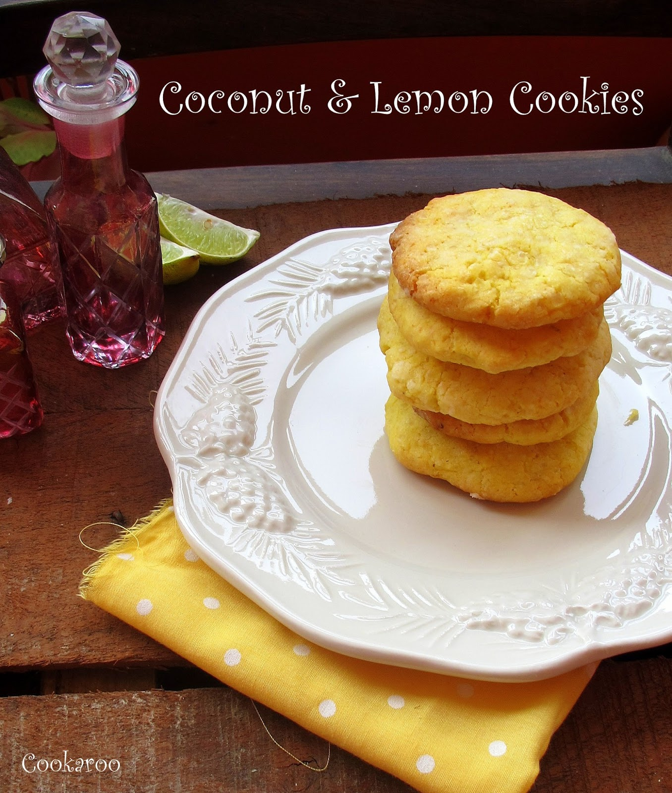 Coconut and lemon cookies