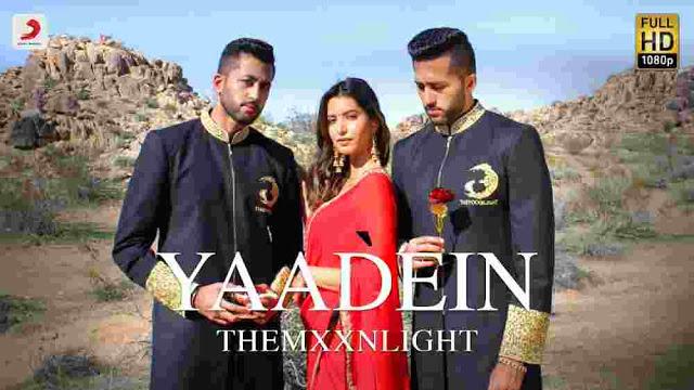 Yaadein Lyrics in English :- THEMXXNLIGHT | Manasvi Mamgai