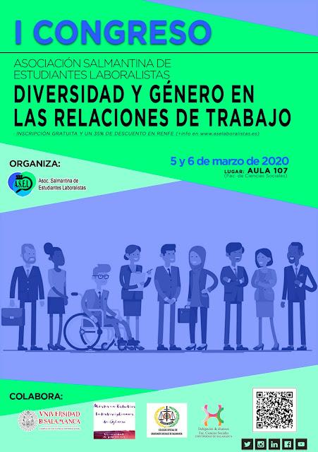 """I CONGRESO """"DIVERSIDAD Y GÉNERO EN LAS RELACIONES DE TRABAJO"""""""