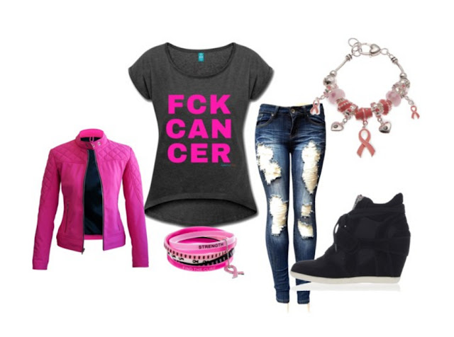 Breast cancer awareness casual outfit | My Fabulous Boobies [How to wear your pink ribbon tshirts in style]