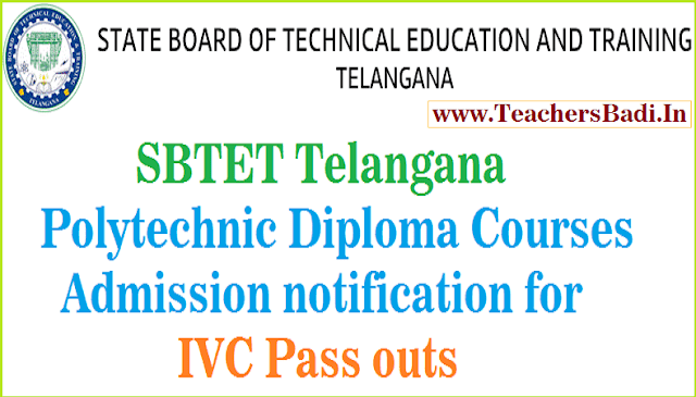 TS Polytechnic Admissions,IVC Pass outs,engineering-non-engineering courses