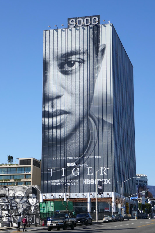Tiger Woods HBO documentary billboard