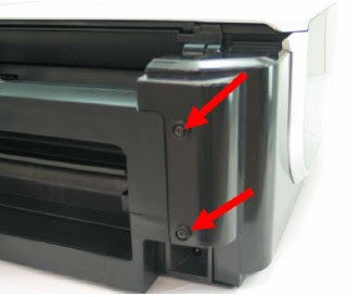 Remove screw back cover printer
