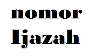 no ijazah s1