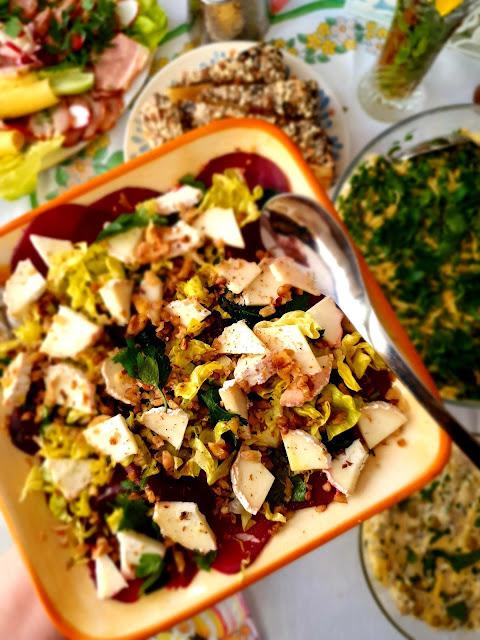 carpaccio z buraka,carpaccio,sałatka z buraka i zera koziego,przystawka na imprezę z buraków i sera koziego,sałatka na grilla,anipasto,z kuchni do kuchni najlepszy blog kulinarny,top blog,