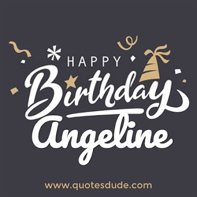 Happy birthday Angeline images.