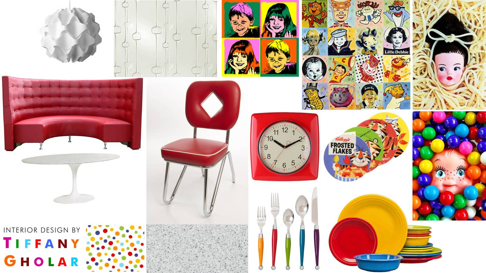 Mood Board Monday: a retro breakfast nook designed by Tiffany Gholar