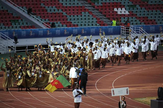 OUVERTURE JEUX AFRICAINS : LA CAMEROON OLYMPIC TEAM A DÉFILÉ EN TENUE SAWA