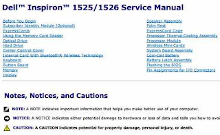 DELL INSPIRON 1525/1526 SERVICE MANUAL