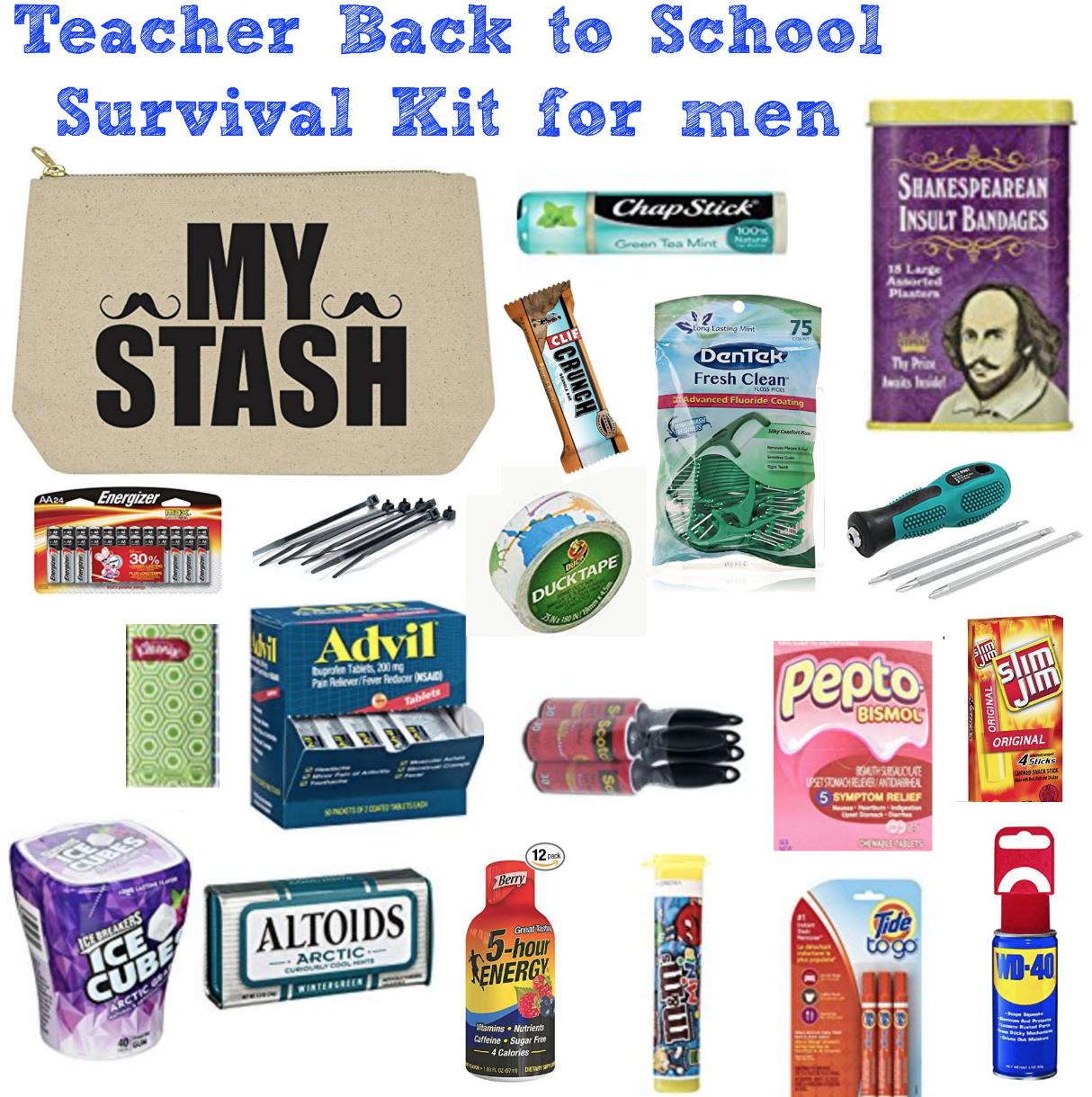 Teacher Survival Kit for Men