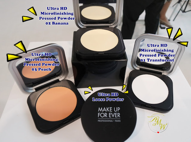 a photo of Make Up For Ever Ultra HD Microfinishing Pressed Powder and Loose Powder in Translucent