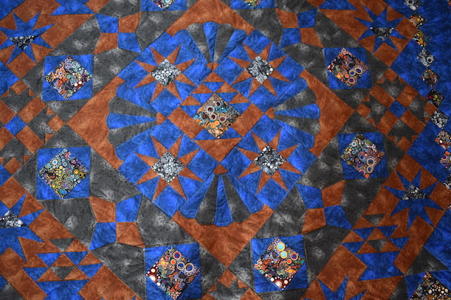 patchwork tkaniny z kiltowo