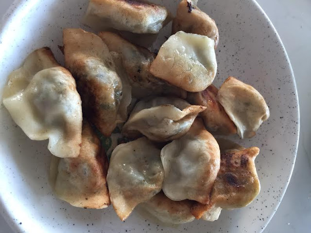 pan fried vegetarian dumplings;  mums dumplings